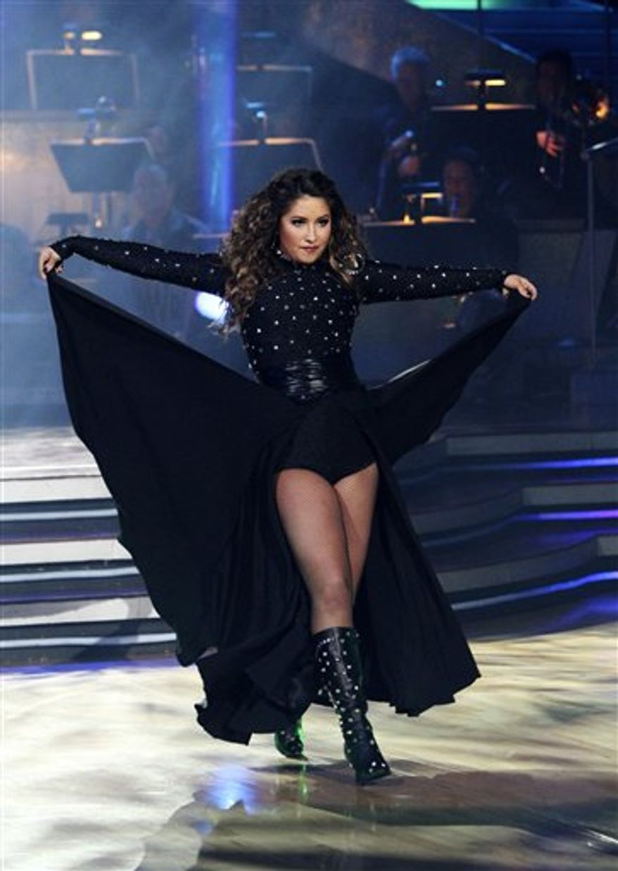 """** FILE ** In this Monday, Nov. 15, 2010, publicity image released by ABC, Bristol Palin performs during the celebrity dance competition series, """"Dancing with the Stars,"""" in Los Angeles. (AP Photo/ABC, Adam Larkey, FILE)"""