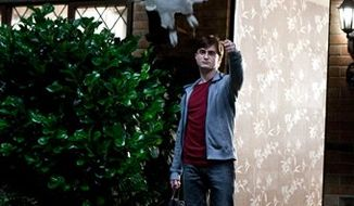 """In this film publicity image released by Warner Bros., Daniel Radcliffe portrays Harry Potter with Hedwig the Owl in a scene from """"Harry Potter and the Deathly Hallows: Part 1."""" (AP Photo/Warner Bros., Jaap Buitendijk)"""