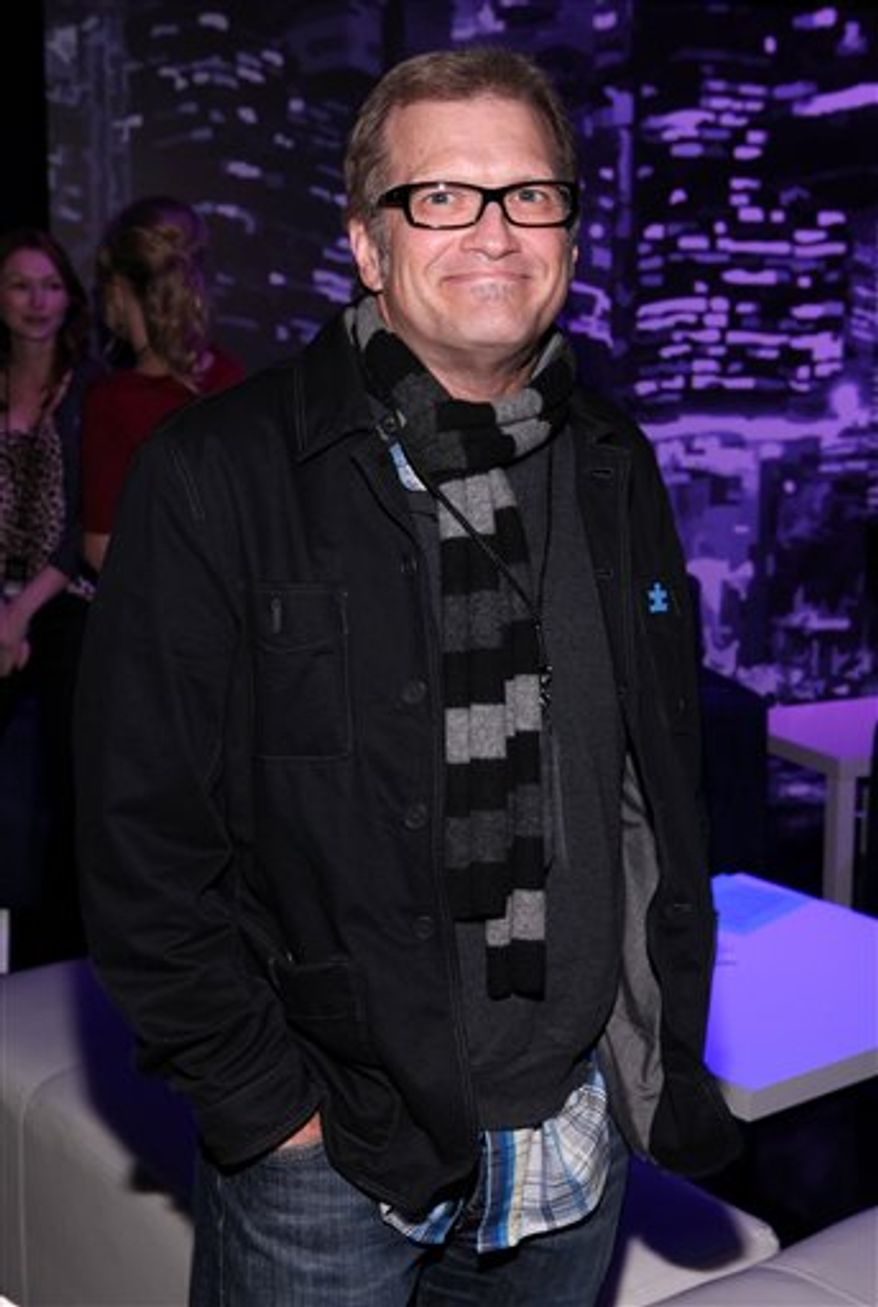 FILE - In this Oct. 21, 2010 file photo released by 42Below, TV game show host Drew Carey is shown at the 42Below Greenroom at Night of Too Many Stars in Los Angeles. (AP Photo/42Below, Casey Rodgers)