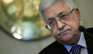 Palestinian Authority President Mahmoud Abbas (Associated Press)