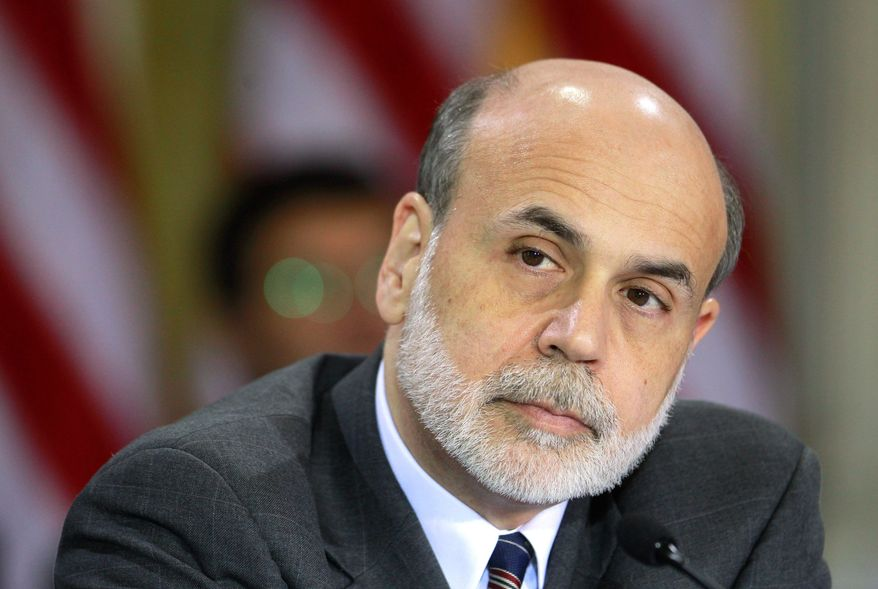 Fed Chairman Ben S. Bernanke attends a Financial Stability Oversight Council meeting in Washington on Tuesday. (Bloomberg)