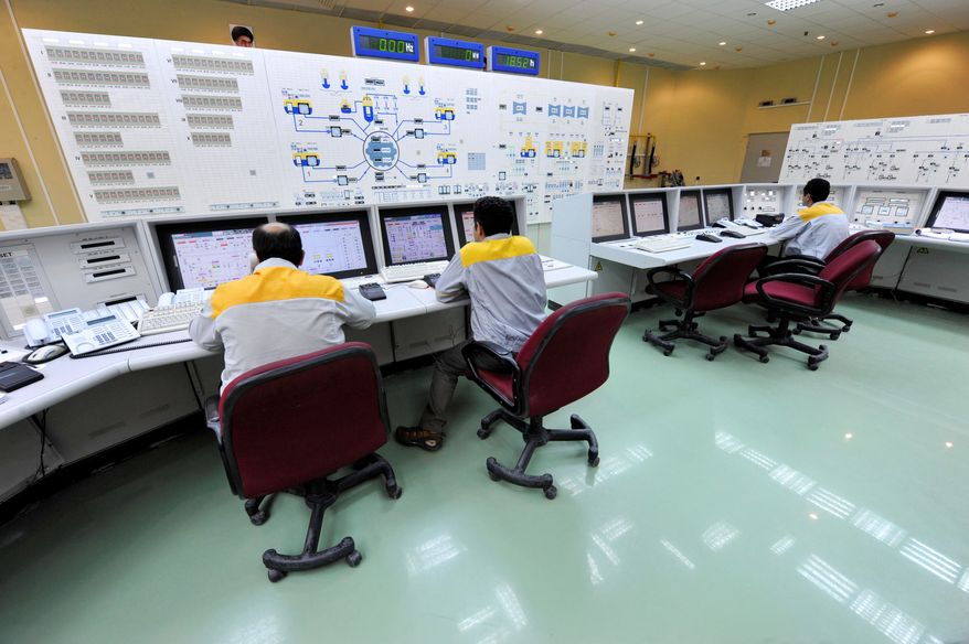 Iranian workers continue operations at the Bushehr nuclear power plant, although the Natanz enrichment nuclear plant was not fed uranium on Nov. 16. Iran's nuclear chief said Tuesday that a malicious computer worm known as Stuxnet has not harmed the country's atomic program and accused the West of trying to sabotage it. Iran earlier confirmed that Stuxnet infected several personal laptops belonging to employees at Bushehr but that plant systems were not affected. (International Iran Photo Agency via Associated Press)