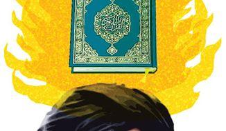 Illustration: Koran by Alexander Hunter for The Washington Times
