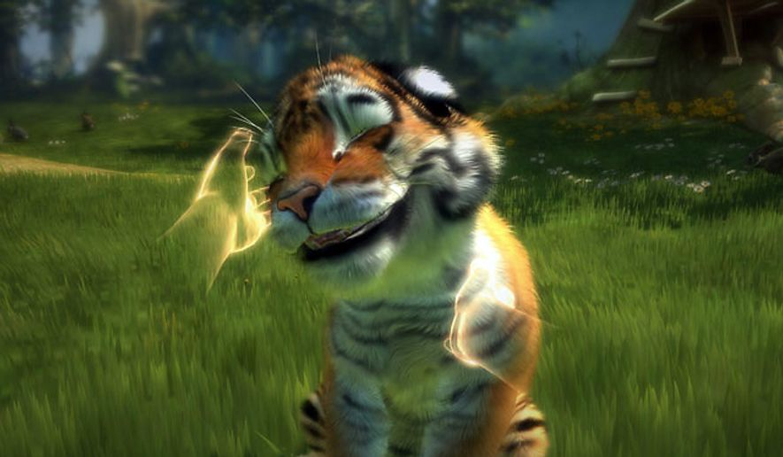 Pet a wild cat with Kinectimals from Microsoft Game Studios