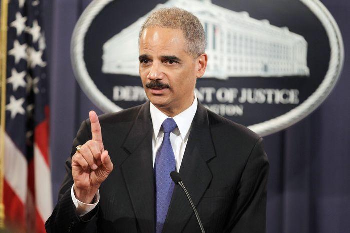 **FILE** Attorney General Eric H. Holder Jr. (Associated Press)