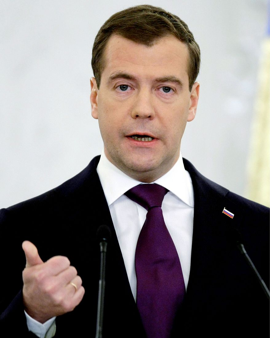 ASSOCIATED PRESS WANTS TREATY: Russian President Dmitry Medvedev is pressing for a new anti-ballistic missile treaty with the United States.
