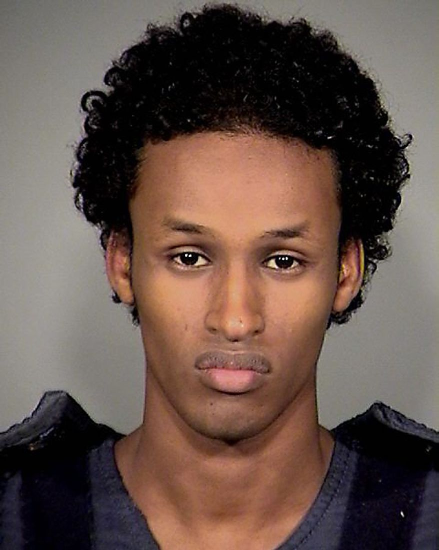 ** FILE ** This image released Nov. 27, 2010, by the Mauthnomah County Sheriff's Office shows Mohamed Osman Mohamud, 19. (AP Photo/Mauthnomah County Sheriff's Office)