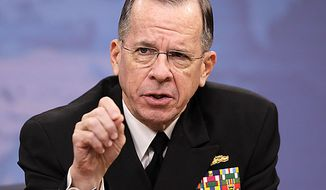 ** FILE ** Joint Chiefs Chairman Adm. Mike Mullen speaks to reporters on Tuesday, Nov. 30, 2010, at the Pentagon. (AP Photo/Charles Dharapak)