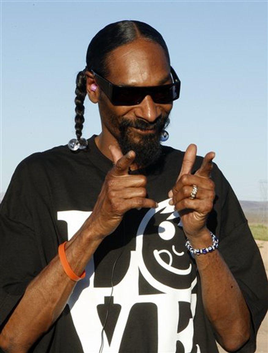 **FILE** Rap artist Snoop Dogg (Associated Press/Zynga)