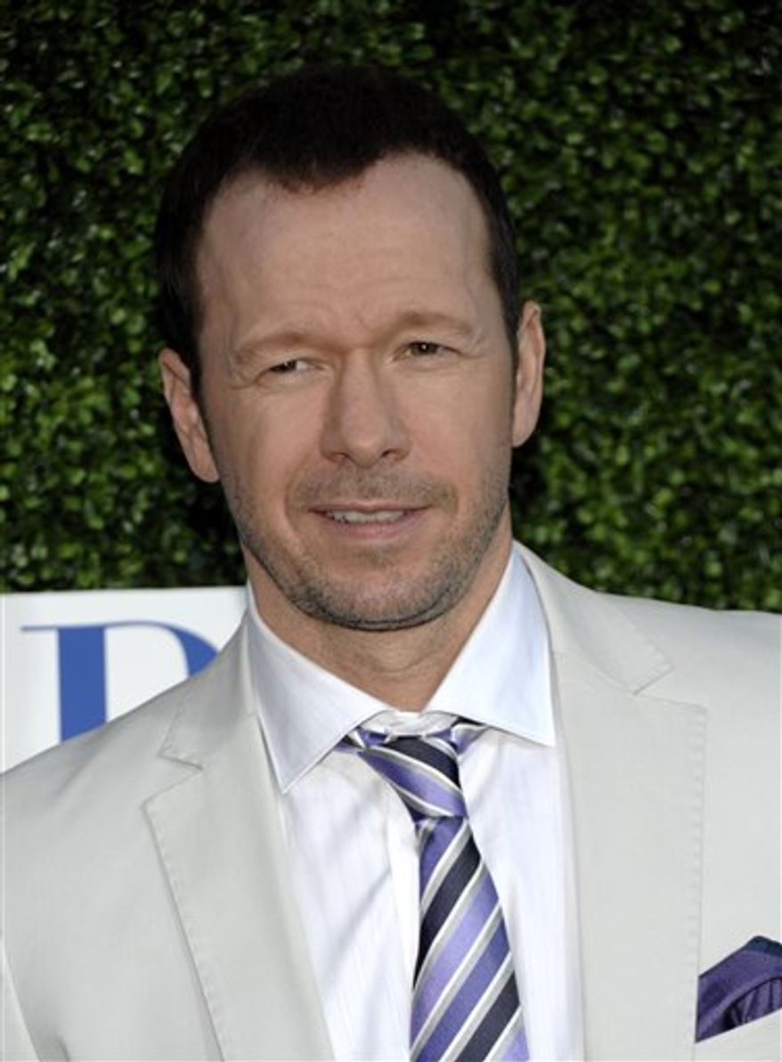 In this July 28, 2010 file photo, actor Donnie Wahlberg arrives at the CBS CW Showtime press tour party in Beverly Hills, Calif. (AP Photo/Dan Steinberg, file)