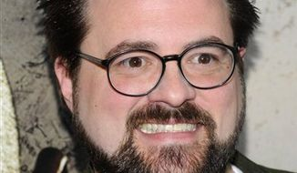 """FILE - In this Feb. 22, 2010 file photo, director Kevin Smith attends the premiere of """"Cop Out"""" in New York. (AP Photo/Peter Kramer, file)"""