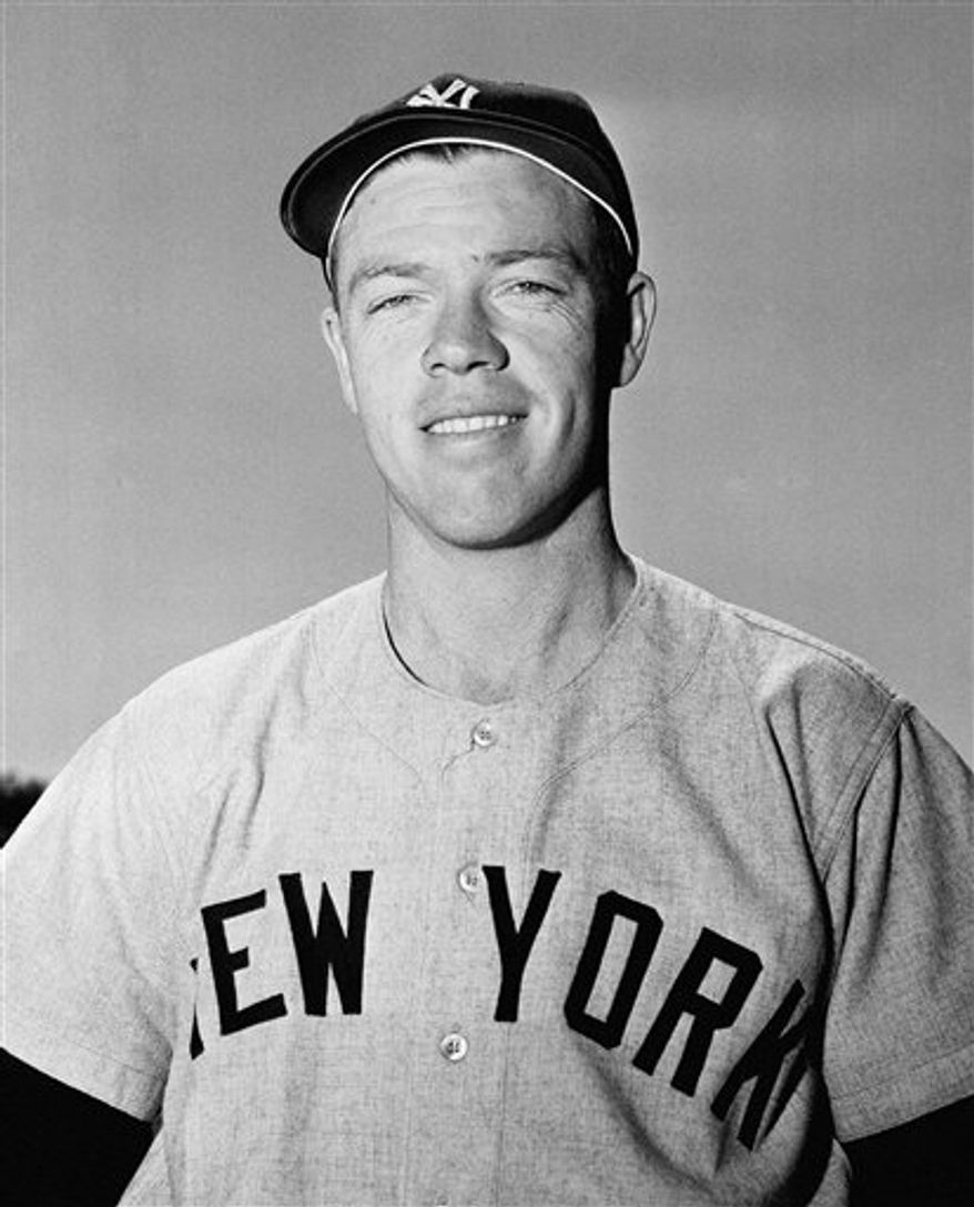 FILE - In this March 7, 1954, file photo, New York Yankees' Gil McDougald poses for a photo in St. Petersburg, Fla. McDougald, an All-Star infielder who helped the Yankees win five World Series championships during the 1950s, has died. He was 82. The Yankees released a statement Monday, Nov. 29, 2010, saying McDougald died Sunday of prostate cancer at his home in Wall Township, N.J. (AP Photo/Harry Harris, File)
