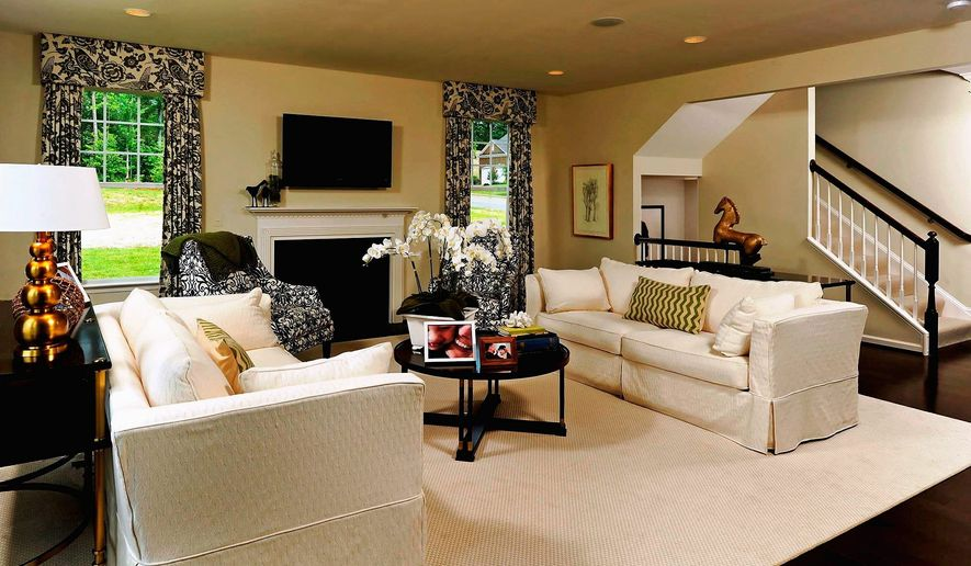The Colby model at Coles Run Manor has a family room in the back of the home. The model is priced from $435,990.