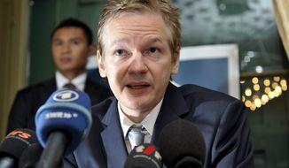 **FILE** WikiLeaks founder Julian Assange (Associated Press)