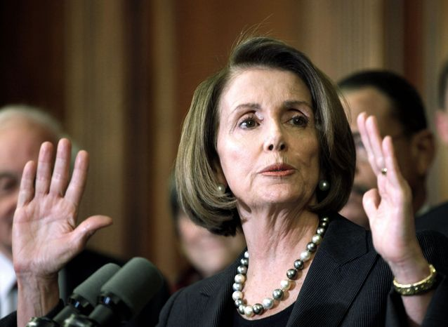 "A special select committee set up by House Speaker Nancy Pelosi, California Democrat, in 2007 was used as a vehicle to promote ""cap-and-trade"" legislation for reducing greenhouse-gas emissions. (Associated Press)"