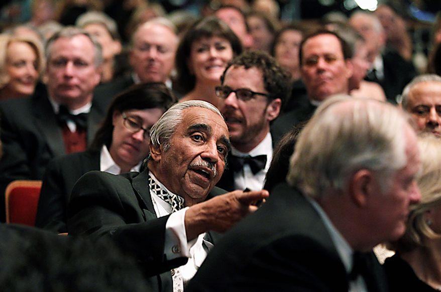 Rep. Charles B. Rangel attends the 2010 Kennedy Center Honors Gala at the Kennedy Center in Washington, Sunday, Dec. 5, 2010.  (AP Photo/Manuel Balce Ceneta)