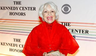 Broadway star Carol Channing walks the red carpet at the Kennedy Center Honors in Washington on Sunday, Dec. 5, 2010. (AP Photo/Jacquelyn Martin) ** FILE **