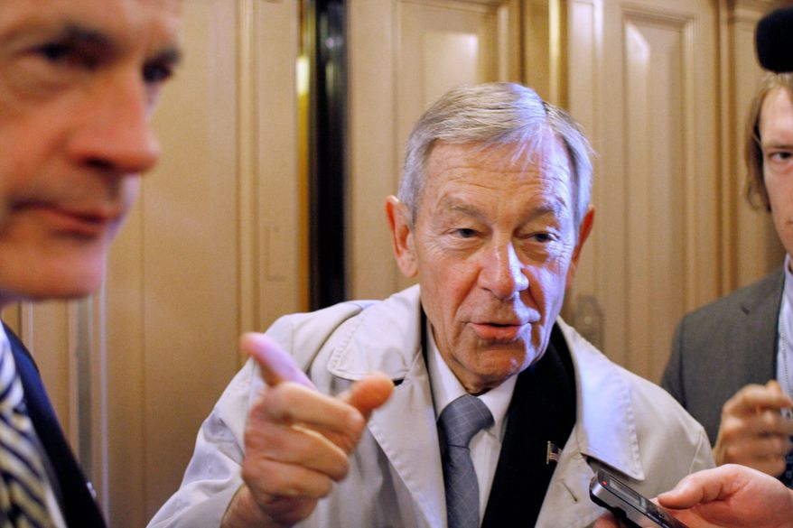 Sen. George V. Voinovich, Ohio Republican, a budget hawk, said he will vote against the compromise. (Associated Press)