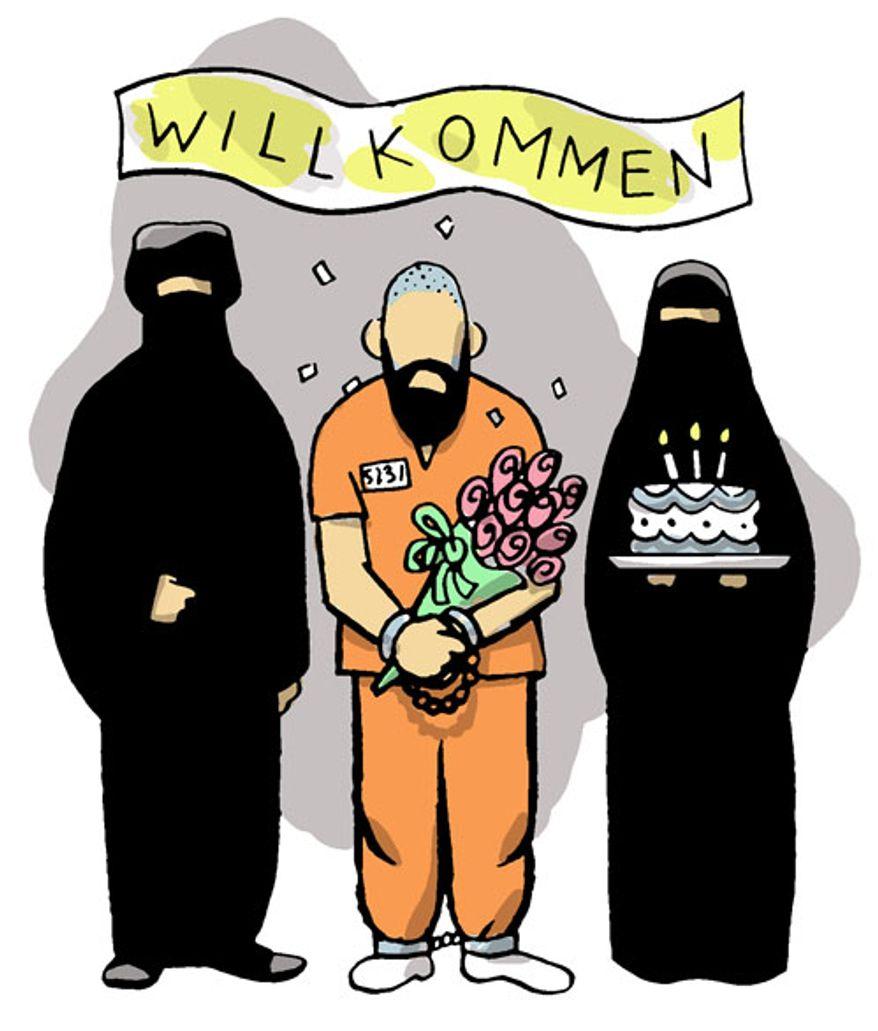 Illustration: Prisoner by Alexander Hunter for The Washington Times