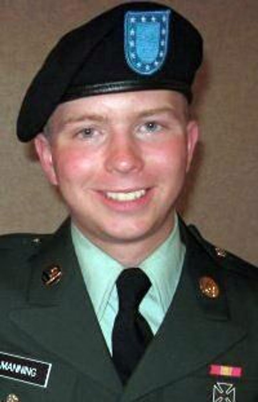 Army Pfc. Bradley Manning is said to be the source of the hundreds of thousands of classified documents made public by WikiLeaks. (Associated Press)