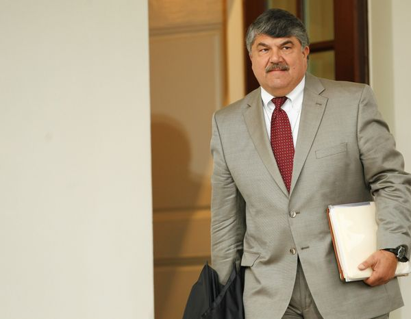 AFL-CIO President Richard Trumka, who was at the White House for a meeting with President Obama in October, said the South Korea free-trade deal reached last week does not go far enough to protect American jobs. (Associated Press)