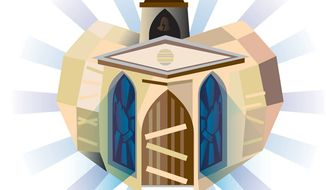 Illustration: Religion by Linas Garsys for The Washington Times