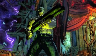 Rick Taylor dons the Terror Mask in Splatterhouse for the Xbox 360.