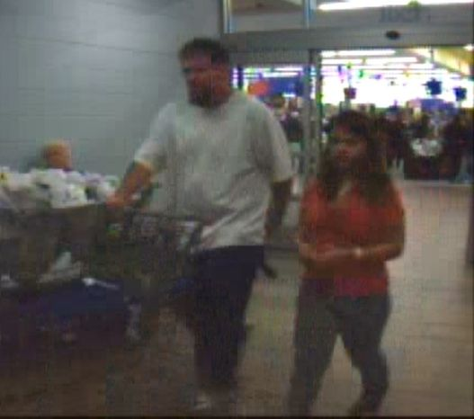 This image provided by the Virginia State Police shows a frame grab from a surveillance video at a Salem Wal-Mart. Virginia State police issued an Amber Alert for Brittany Mae Smith, 12, on Monday, Dec. 6, 2010. (AP Photo/Virginia State Police).