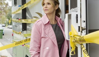 "In this undated publicity image released by TNT, Kyra Sedgwick is shown in a scene from the TNT original series, ""The Closer."" (AP Photo/TNT, Karen Neal)"