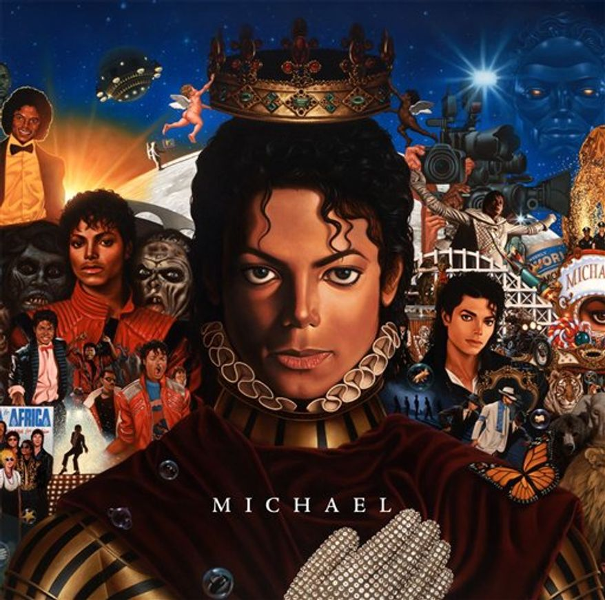 "In this CD cover image released by Epic Records, newly completed recordings from Michael Jackson entitled ""Michael,"" is shown. The CD will be released on Dec.14. (AP Photo/Epic Records)"