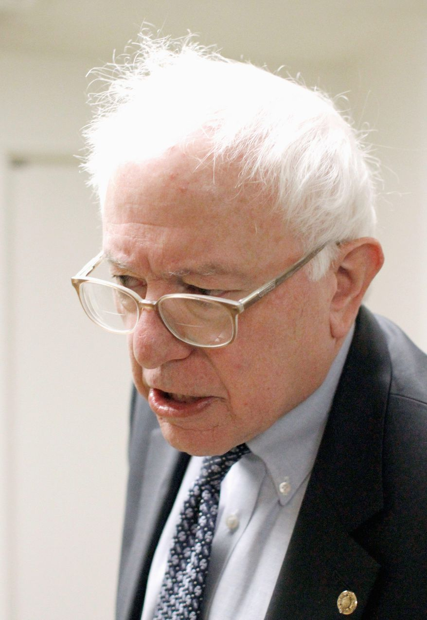 """""""This is not a tax on the rich. This is a tax on the very, very, very rich,"""" said Sen. Bernard Sanders. He delivered an eight-hour speech on Friday in opposition to President Obama's tax-cut deal with Republicans. (Associated Press)"""