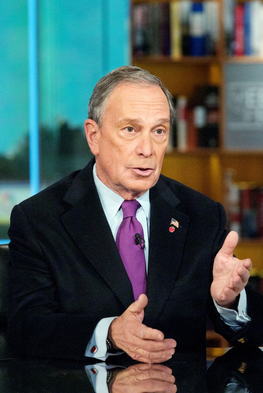"""I'm not going to run for president. I've got a great job,"" said New York Mayor Michael R. Bloomberg on Sunday. (Associated Press)"
