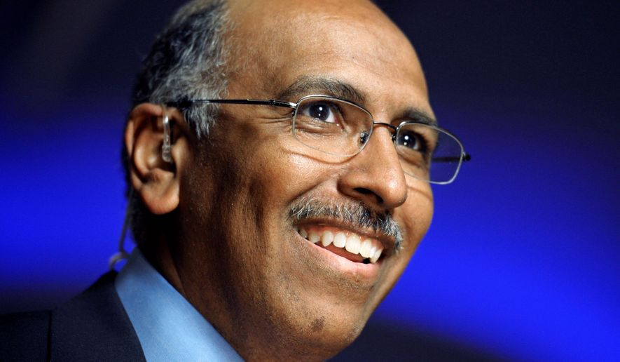 IN THE RUNNING: Michael S. Steele says he'll seek another term as head of the Republican National Committee. (Associated Press)