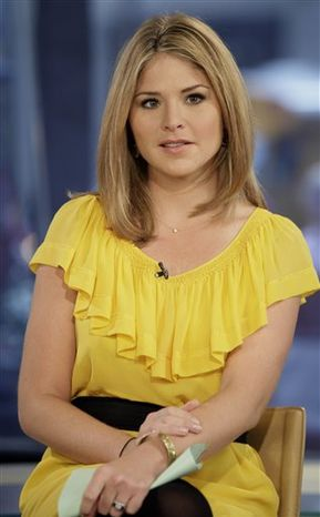 "**FILE** Jenna Bush Hager, special contributor for the NBC ""Today"" television program, appears on the show in New York on Oct. 8, 2009. (Associated Press)"