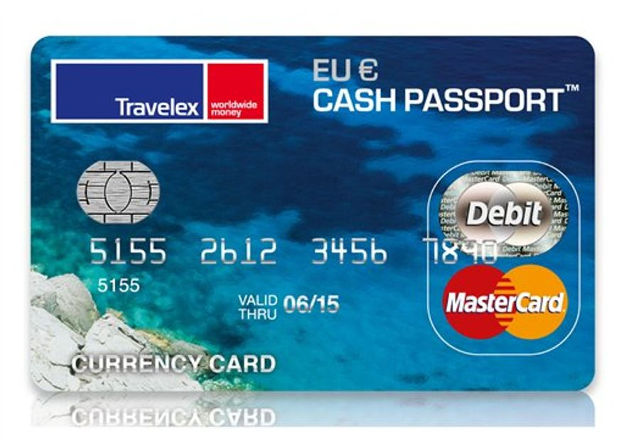 This product image courtesy of Travelex shows the Travelex prepaid smart card. This new card utilizes the microchip and PIN technology that is standard in credit cards in Europe making it easier to pay for things when traveling abroad.   (AP Photo/Travelex) NO SALES