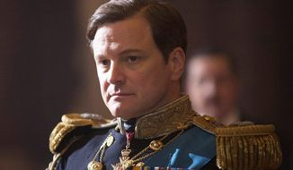 "Colin Firth portrays King George VI in ""The King's Speech."" The film was nominated for a Golden Globe award for best picture. Mr. Firth, Helena Bonham Carter and Geoffrey Rush also were nominated for acting awards. (AP Photo)"