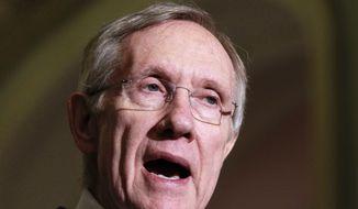 **FILE** Senate Majority Leader Harry Reid, Nevada Democrat (Associated Press)