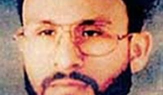Terrorism suspect Abu Zubaydah was among those who faced a severe CIA investigation technique known as waterboarding. (AP Photo/U.S. Central Command, File)
