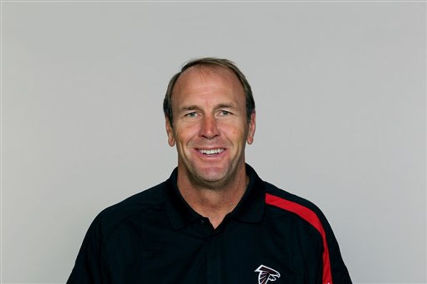FILE - In this 2010 file photo, Atlanta Falcons offensive coordinator Mike Mularkey is pictured.   Mularkey seems to have great timing, everything the offensive coordinator calls has worked out for the Falcons this season. (AP Photo/FILE)