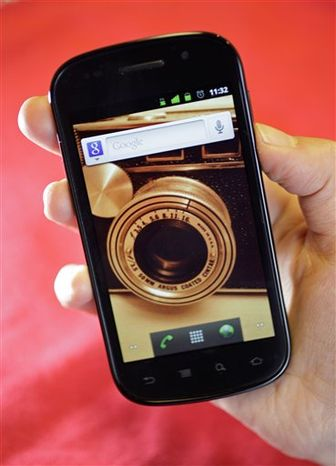 In this Dec. 13, 2010 photo, the Nexus S smart phone from Google/Samsung , is shown in San Francisco. (AP Photo/Eric Risberg)