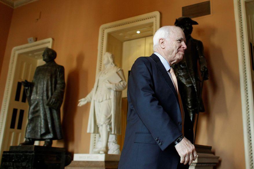Sen. John McCain, Arizona Republican (AP Photo)