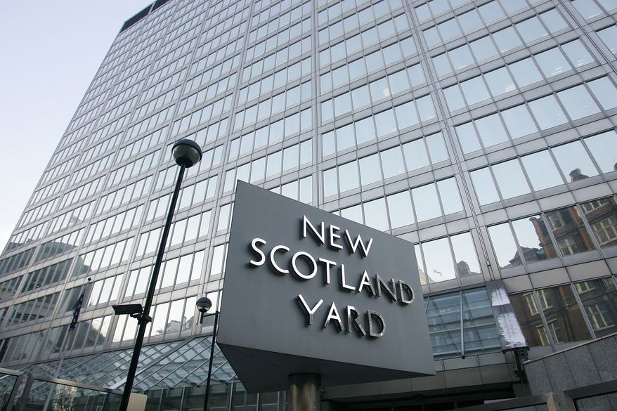 An assistant commissioner of London's Metropolitan Police Service, the headquarters of which is known as New Scotland Yard, said on Monday, Dec. 20, 2010, that the police investigation into an alleged terror plot is in its early stages. (AP Photo/Akira Suemori)