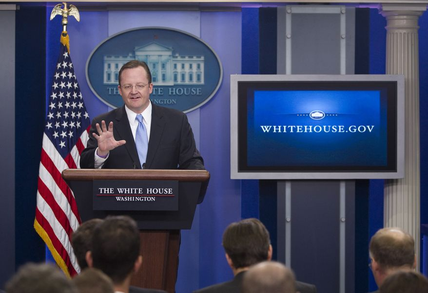 Presidential press secretary Robert Gibbs gestures during the daily briefing at the White House on Monday, Dec. 20, 2010, in Washington. (AP Photo/Evan Vucci)