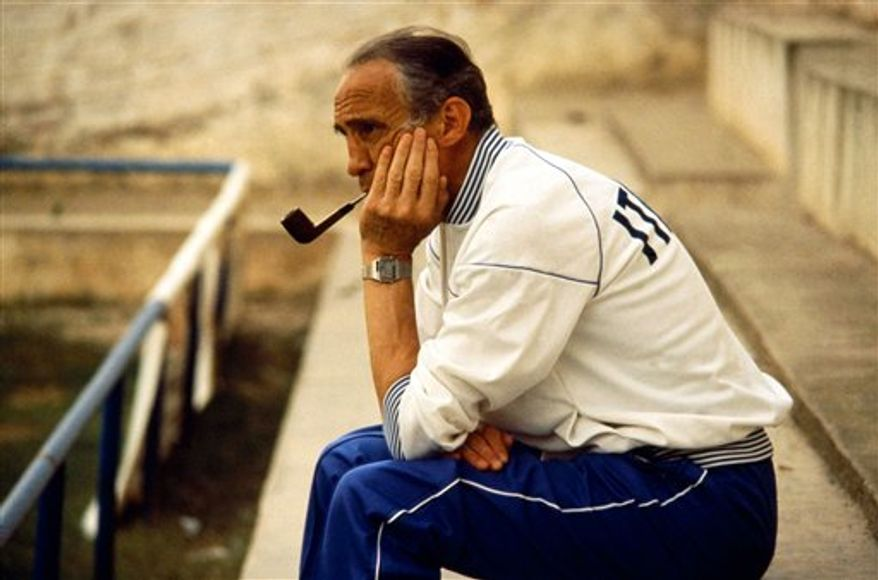 FILE - This undated file photo shows Italy's 1982 national soccer team coach Enzo Bearzot. Italian media have announced that Italy's 1982 World Cup-winning coach Enzo Bearzot died in Milan aged 83 on Tuesday, Dec. 21, 2010. Bearzot had been seriously ill for several years and will be survived by his wife Luisa, son Glauco and daughter Cinzia. (AP Photo/Lapresse, file)  ITALY OUT