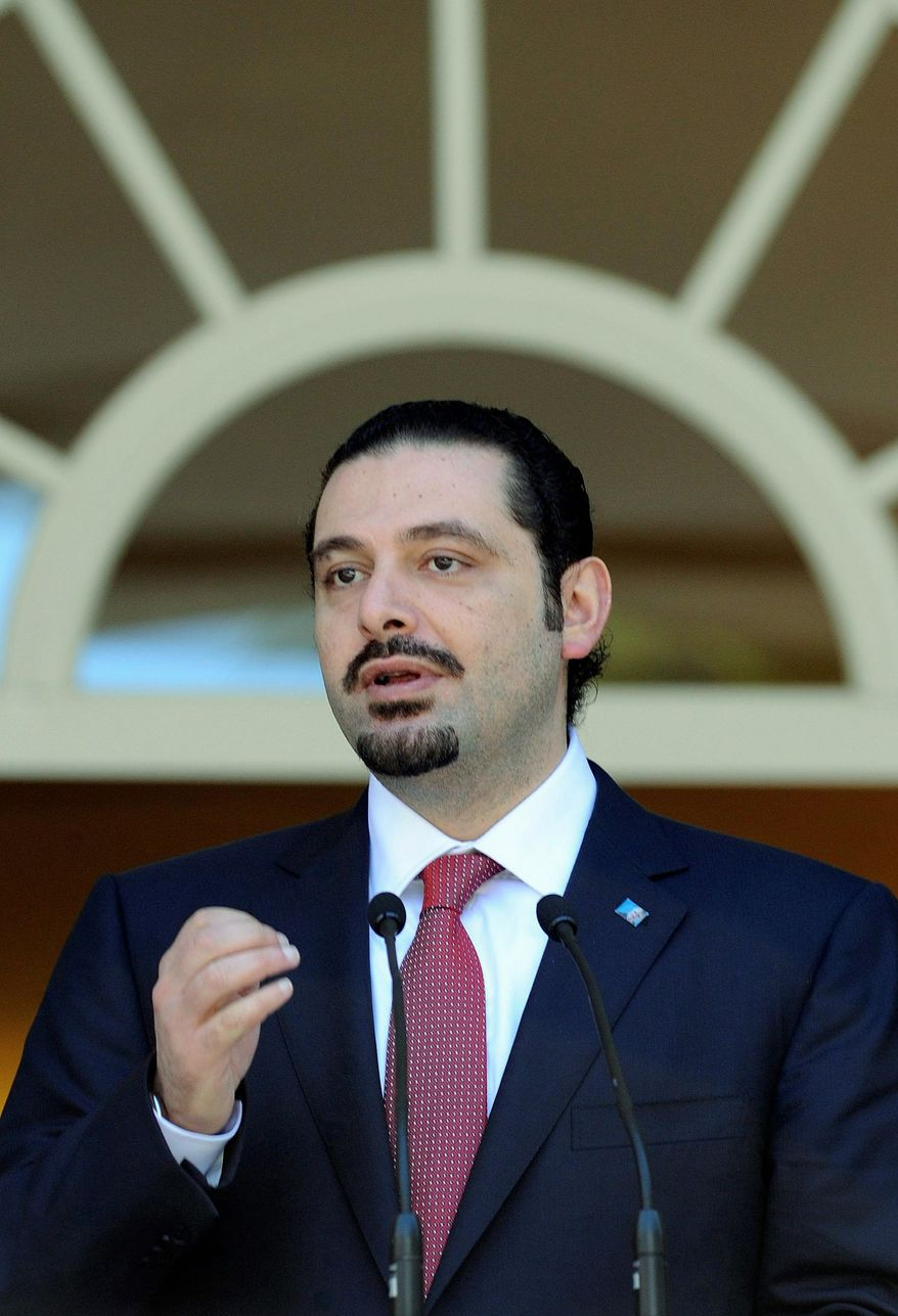 Associated Press Lebanese Prime Minister Saad Hariri disavowed quotes attributed to him in a pro-Syrian Lebanese newspaper.