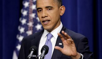 "ASSOCIATED PRESS 'GRIDLOCK' BUSTER: President Obama discusses the Dream Act at the Eisenhower Executive Office Building on Wednesday. ""This has been a season of progress for the American people,"" Mr. Obama said."