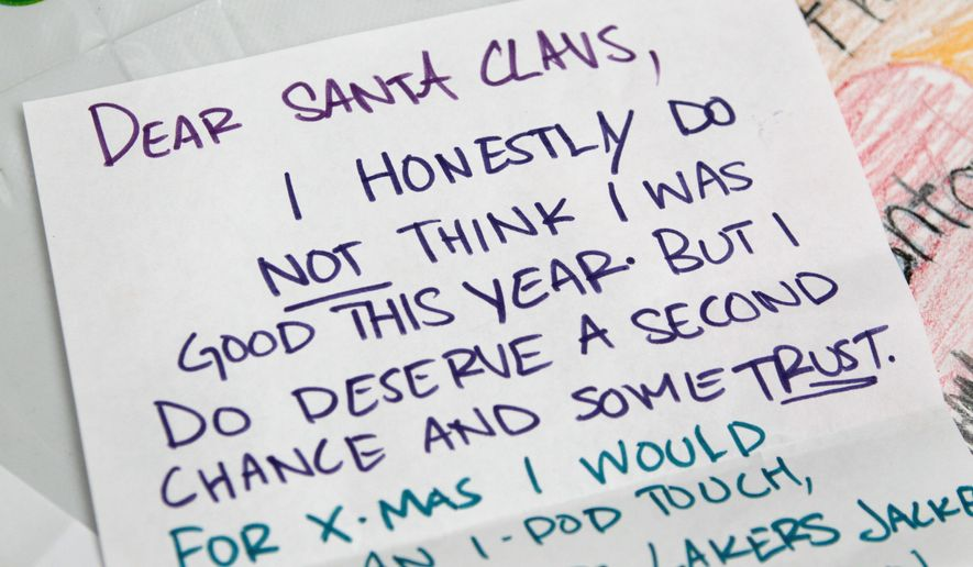 Children naughty and nice still write and mail letters to Santa, but a growing number of them send their Christmas wish lists via e-mail, Twitter and Facebook.