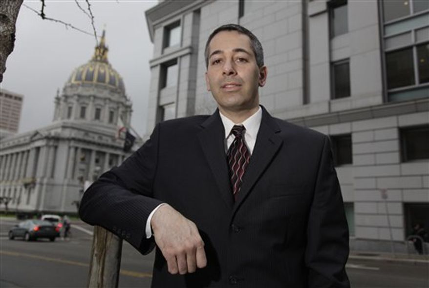 In this Dec. 22, 2010 photo, attorney Daniel Balsam, who hates spam so much that he launched a Website Danhatesspam.com, poses outside in San Francisco. From San Francisco Superior Court small claims court to the 9th U.S. Circuit Court of Appeals, San Francisco-based Balsam has been wielding a one-man crusade against e-mail marketers he alleges run afoul of federal and state anti-spamming laws with dozens of lawsuits filed even before he graduated law school in 2008. (AP Photo/Eric Risberg)