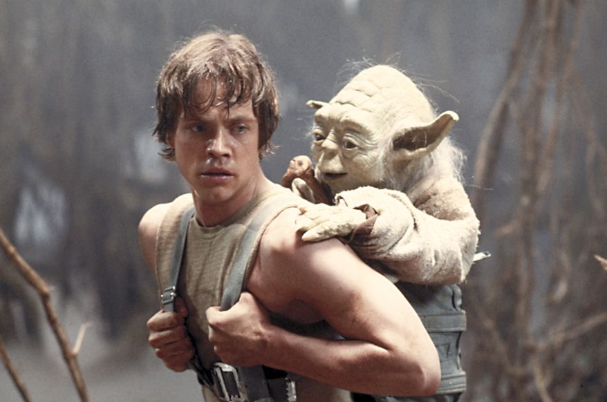"""Mark Hamill stars as Luke Skywalker, here with the character Yoda, in """"Star Wars: The Empire Strikes Back,"""" which is among the films selected by the Library of Congress for preservation in its National Film Registry. (AP Photo/Lucasfilm Ltd)"""