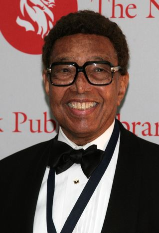 ** FILE ** Jazz pianist and composer Billy Taylor arrives for the Library Lions benefit at the New York Public Library in 2007. (AP Photo/Gary He, File)